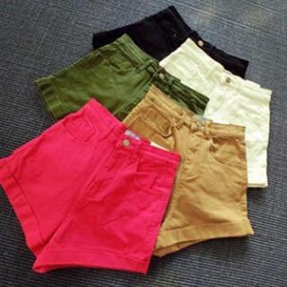 Dute - Cuffed High-Waist Shorts