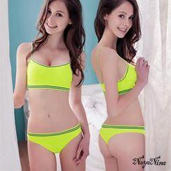 Naya Nina - 撞色彩條無縫低腰丁字褲