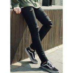 JOGUNSHOP - Slit-Detail Skinny Pants