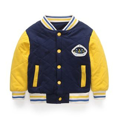 Yobaby - Kids Quilted Baseball Jacket