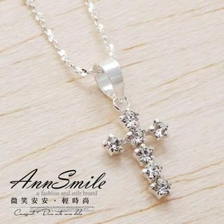 AnnSmile - 925 Sliver Cross Necklace