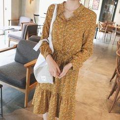 mimi&didi - Floral-Patterned Chiffon Dress