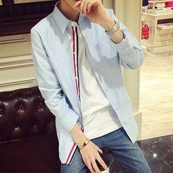 ZZP HOMME - 拼接长袖衬衫
