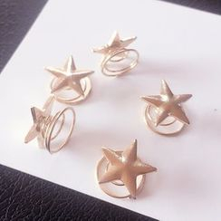 Gold Beam - Star Spiral Hair Pin
