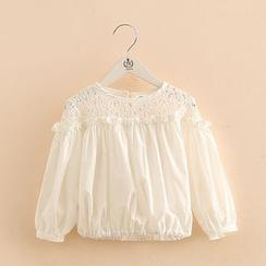 貝殼童裝 - 小童拼接襯衫