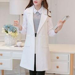 Q.C.T - 3/4-Sleeve Long Blazer