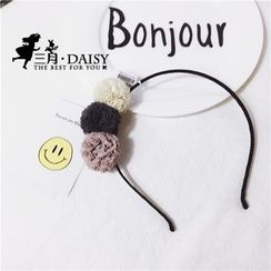 March Daisy - 三個紗球球髮箍