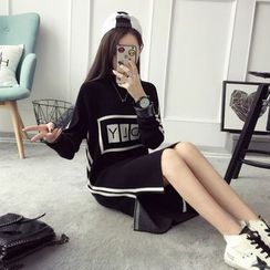 Qimi - Lettering Knit Tunic