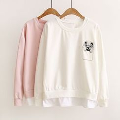 Angel Love - Dog Embroidered Pullover