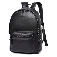 Costello - Studded Faux Leather Backpack