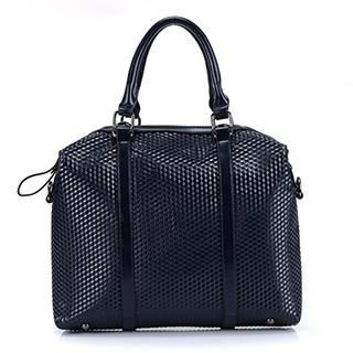 Exull - Faux-Leather Embossed Briefcase