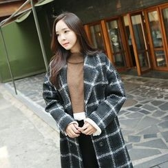 Envy Look - Double-Breasted Check Coat