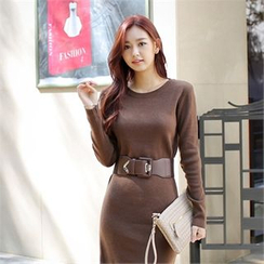 Styleberry - Wool Blend Knit Dress