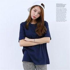 DL jini - Round-Neck Short-Sleeve T-Shirt