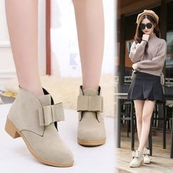 Sunsteps - Bow Front Block Heel Ankle Boots