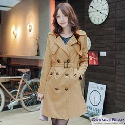 OrangeBear - Double-Breasted Belted Trench Coat