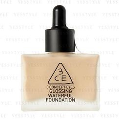 3 CONCEPT EYES - Glossing Waterful Foundation SPF 15 PA+ (Soft Beige)