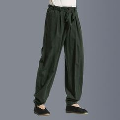 Sparrow Farm - Tie-Waist Baggy Pants