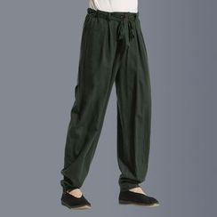 Sparrow Farm - 腰结带宽腿长裤