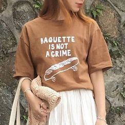 Dute - Printed Short Sleeve T-Shirt