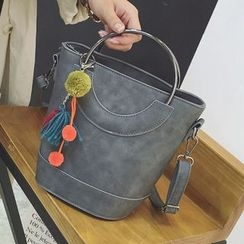 Nautilus Bags - Metal Ring Handle Shoulder Bag