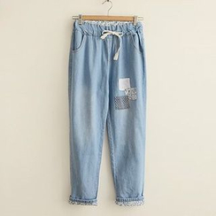 Angel Love - Drawstring Straight Fit Jeans