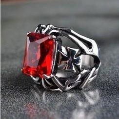 潮野 - 鈦鋼寶石戒指