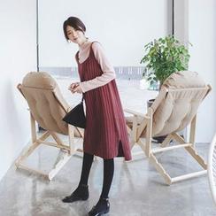 mimi&didi - Rib-Knit Midi Jumper Dress