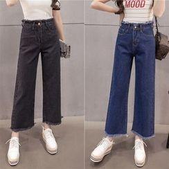 Rosehedge - Frayed Wide Leg Jeans