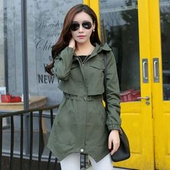MyShow - Hooded Trench Jacket