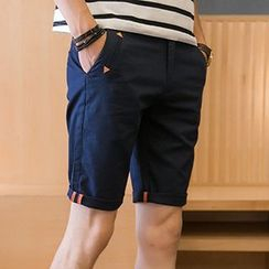 Gurun Vani - Cuffed Plain Shorts