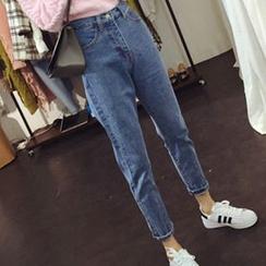 Glen Glam - Tapered Jeans