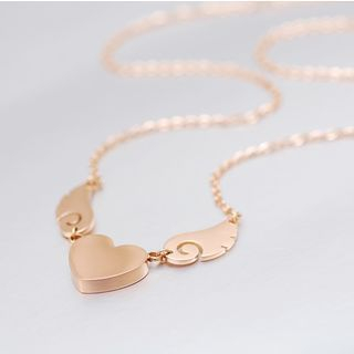 Claudette - Flying Heart Necklace
