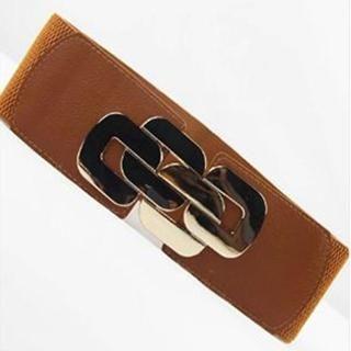 Charm n Style - Chain-Accent Elastic Belt