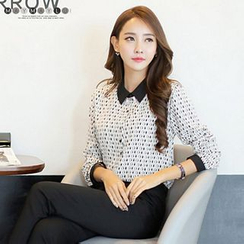 Maymaylu Dreams - Long-Sleeve Patterned Blouse