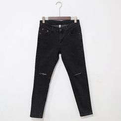 Mr. Cai - Ripped Slim Fit Jeans