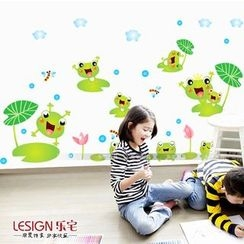 LESIGN - Wall Frog Sticker Set