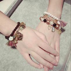Ticoo - Beaded Charm Bracelet