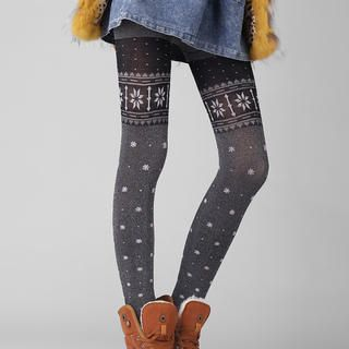Ando Store - Fleece-Lined Printed Leggings
