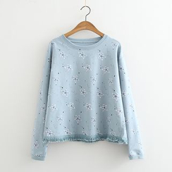 MAOMAO - Fringed Star Long-Sleeve T-shirt