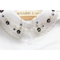 Debii - Flower Beaded Decorative Collar