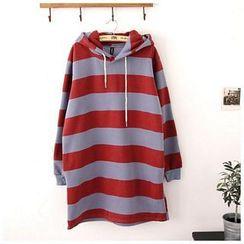 Maymaylu Dreams - Fleece-Lined  Striped Hooded Dress