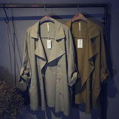 芷蓯夕 - 扣帶袖雙排扣風衣