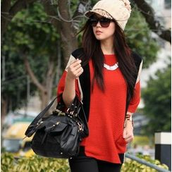 SO Central - Pocket-Front Color-Block Sweater