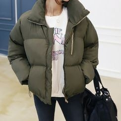 DANI LOVE - Zipped Duck Down Puffer Jacket