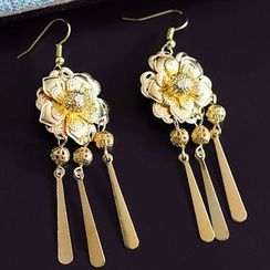 Ashmi - Bridal Flower Drop Earrings