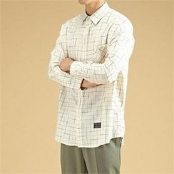 THE COVER - Pocket-Front Graph-Check Shirt