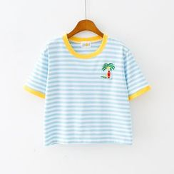 Sunny Day - Short-Sleeve Striped T-Shirt