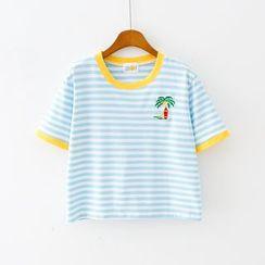 Sunny Day - 短袖條紋T裇