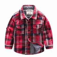 Kido - 儿童格纹衬衫